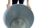 Sacco a fondo circolare in polietilene montato in fusto 200 litri